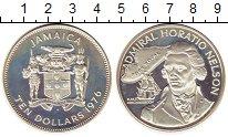 Изображение Монеты Ямайка 10 долларов 1976 Серебро Proof- Адмирал Г.Нельсон