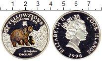 Изображение Монеты Острова Кука 10 долларов 1996 Серебро Proof- Медведь