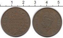 Изображение Монеты Индия 1/4 анны 1940 Бронза XF