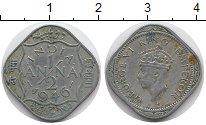 Изображение Монеты Индия 1/2 анны 1946 Медно-никель XF Георг VI