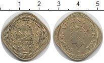 Изображение Монеты Индия 2 анны 1944 Латунь VF Георг VI