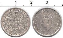 Изображение Монеты Индия 1/4 рупии 1940 Серебро VF Георг VI