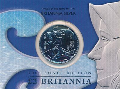 Изображение Подарочные монеты Великобритания 2 фунта 2003 Серебро UNC