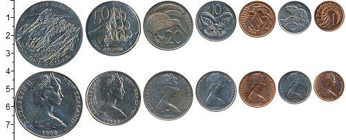 Изображение Наборы монет Новая Зеландия Набор 1970 года 1970  UNC Набор отмечает визит