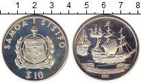 Изображение Монеты Самоа 10 долларов 1992 Серебро Proof-