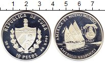 Изображение Монеты Куба 10 песо 1996 Серебро Proof-