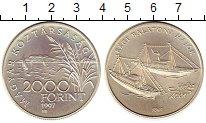 Изображение Монеты Венгрия 2.000 форинтов 1997 Серебро UNC Корабль Хелка озеро