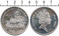 Изображение Монеты Фиджи 10 долларов 1993 Серебро Proof- Корабль Открытие Фид