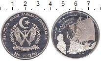 Изображение Монеты Сахара 500 песет 1990 Серебро Proof- Корабль