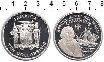 Изображение Монеты Ямайка 10 долларов 1990 Серебро Proof-
