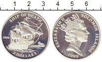 Изображение Монеты Соломоновы острова 5 долларов 1999 Серебро Proof-