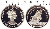 Изображение Монеты Каймановы острова 2 доллара 1994 Серебро Proof- Крушение десяти пару