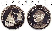 Изображение Монеты Гамбия 20 даласи 1993 Серебро Proof-