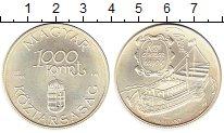 Изображение Монеты Венгрия 1.000 форинтов 1995 Серебро UNC- Дунайские пароходы.