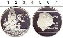 Изображение Монеты Аруба 25 флоринов 1992 Серебро Proof- Олимпийские игры Кор