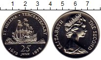 Изображение Монеты Великобритания Остров Святой Елены 25 пенсов 1973 Серебро Proof-