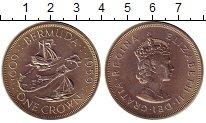 Изображение Монеты Бермудские острова 1 крона 1959 Серебро UNC- Елизавета II.  350