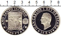 Изображение Монеты Испания 2000 песет 1993 Серебро Proof