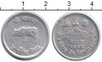 Изображение Мелочь Непал 5 пайс 1971 Алюминий XF Корова