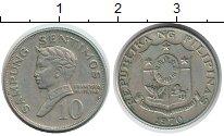 Изображение Монеты Филиппины 10 сентим 1970 Медно-никель XF Бальтазар