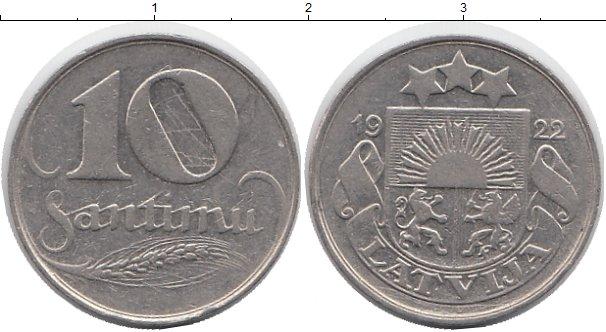 Картинка Монеты Латвия 10 сантим Медно-никель 1922