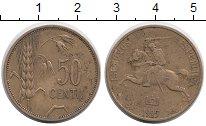 Изображение Монеты Литва 50 центов 1925 Латунь XF