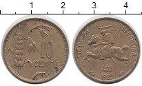Изображение Монеты Литва 10 центов 1925 Латунь XF