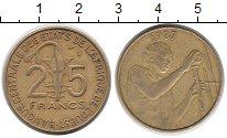 Изображение Монеты Центральная Африка 25 франков 1987 Латунь XF ФАО