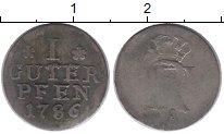 Изображение Монеты Германия Пруссия 1 пфенниг 1786 Серебро VF