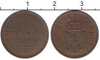 Изображение Монеты Пруссия 1 пфенниг 1846 Медь XF