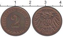Изображение Монеты Германия 2 пфеннига 1915 Медь UNC-