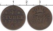 Изображение Монеты Германия Восточная Фризия 1/4 штюбера 1799 Медь XF