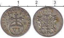 Изображение Монеты Саксен-Веймар-Эйзенах 6 пфеннигов 1754 Серебро XF+ IH