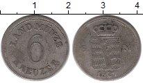 Изображение Монеты Германия Саксе-Мейнинген 6 крейцеров 1827 Серебро XF-