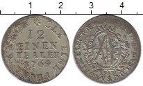Изображение Монеты Саксония 1/12 талера 1764 Серебро XF-