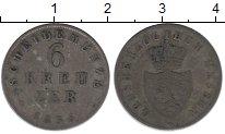 Изображение Монеты Гессен-Дармштадт 6 крейцеров 1835 Серебро VF Фридрих II