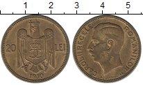 Изображение Монеты Румыния 20 лей 1930 Латунь XF+ Кароль II