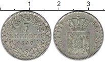 Изображение Монеты Бавария 3 крейцера 1840 Серебро XF+