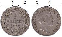 Изображение Монеты Германия Баден 1/2 гульдена 1864 Серебро XF