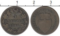 Изображение Монеты Германия Гогенцоллерн-Зигмаринген 3 крейцера 1846 Серебро VF