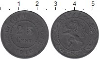 Изображение Монеты Бельгия 25 сантим 1916 Цинк XF