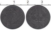 Изображение Монеты Польша 10 грош 1941 Цинк XF Германская оккупация