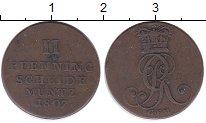 Изображение Монеты Германия Брауншвайг-Люнебург-Каленберг-Ганновер 2 пфеннига 1807 Медь XF