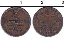 Изображение Монеты Ломбардия 3 сентесим 1852 Медь VF
