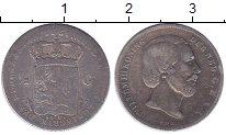 Изображение Монеты Нидерланды 1/2 гульдена 1861 Серебро VF