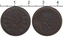 Изображение Монеты Норвегия 2 эре 1897 Бронза XF Оскар II