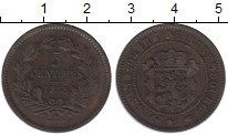 Изображение Монеты Люксембург 5 сантим 1855 Медь XF-