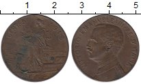 Изображение Монеты Италия 5 сентесим 1918 Бронза XF-