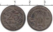 Изображение Монеты Швеция 25 эре 1885 Серебро XF
