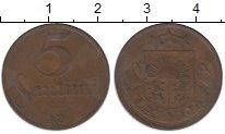 Изображение Монеты Латвия 5 сантим 1922 Бронза XF